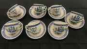 7 Johnson Bros. Old Granite Hearts And Flowers Cup And Saucer Sets