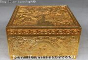 China 24k Gold Gilt Wealth Dragon Loong Casket Boxes Jewelry Case Treasure Box