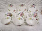Royal Doulton England - Arcadia Pattern -  6 Cup And Saucer Sets -  Perfect