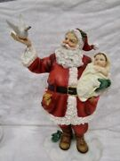 Home Interiors  Believe In Miraacles - Santa Claus  - Christmas Figurine