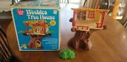 Vintage Weebles Tree House Romper Room Hasbro Playset With Box Missing Pieces