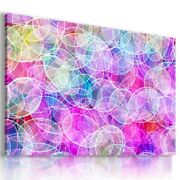 White Circles Abstract Print Canvas Wall Art Picture Large Ab712 Unframed