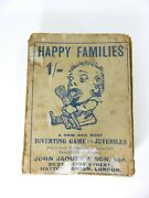 Antique 'happy Families' Card Game Of 44 Grotesque Characters, John Jaques And Son
