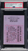 Ted Williams Signed Red Sox Ticket Stub 1941 Field Day And Entertainment 6/27🔥psa