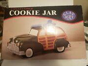 Vintage Clay Art Collectible Cookie Jar Surfs Up Woody 1998
