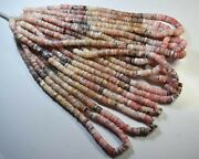 103-169 Pink Opal Natural Gemstone Tyre Plain Beads 6-7mm 1625ct 16 11 Line Lot