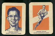 1952 Wheaties George Mikan Portrait And Action Ex-mt+