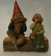 Tom Clark Gnomes Madre And Johnny Sitters, W/ Enesco Log, Lot Of 2 W/certificate