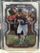 2020 Panini Prizm Chase Young 383 White Sparkle