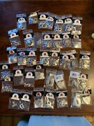 Leather Craft Tandy New Concho Lot/38 Eagle Cross Rhinestones Wings Star