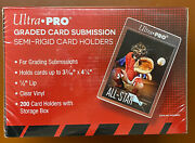 Box Of 200 Ultra Pro Graded Card Submission Size Semi Rigid Card Holder Sealed
