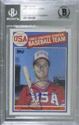 1985 Topps Mark Mcgwire 401 Bgs Authentic Rookie