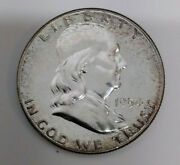 1954 Franklin Half Dollar Proof 90 Silver Fifty Cent Coin Mg