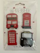 Disney Epcot London Big Red Bus Refrigerator Kitchen Magnets Home Office New