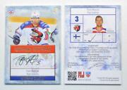 2013-14 Khl Gold Collection Autograph Lev-a13 Topi Jaakola /50