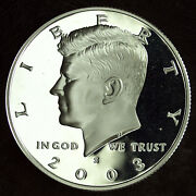 2003 S Proof Silver Kennedy Half Dollar ☆☆ Great For Sets ☆☆ From Proof Set 445