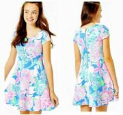 Nwt Lilly Pulitzer Girls Arya Easter Dress Peony For Your Thoughts 14