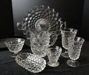Your Choice - Fostoria Glass American - Goblet Sundae Plate Oyster Tray Pitcher+