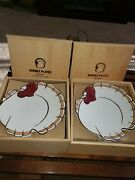 Pottery Barn Gobble Plates 2 Sets Of 4 - 7 Inch Salad/ Dessert Plates