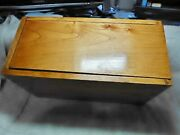 Box Jointed Case, Reclaimed American Chestnut And Birch With Sliding Top. New.
