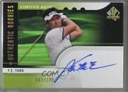 2012 Sp Authentic Rookies Limited /100 Ye Yang 113 Auto