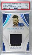 2017 Panini Immaculate Remarkable Memorabilia Blue /35 Lionel Messi Rm-lm Psa 6