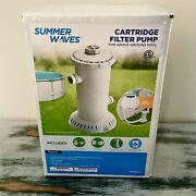 ☀️ships Today☀️ Summer Waves 1000gph Universal Filter Pump For Above Ground Pool
