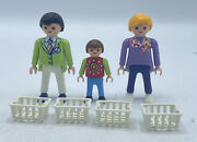 Playmobil 3200 Supermarket Grocery Store Workers Figures Baskets