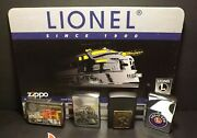 Vintage Zippo Lighter Display Card 4 Lionel Trains Zippo Hard To Find