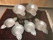 6 Wilton-columbia Armetale Double Handled Porringer Bicentennial Approved Seal