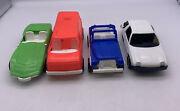 Lot Of 4 Vintage Gay Toys Vehicles Plastic Toy Cars Trucks Vehicles Usa Made