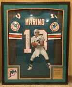 Dan Marino Miami Dolphins Hand Painted Autographed Jersey 1/1 Framed