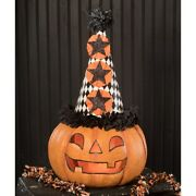 Bethany Lowe Halloween Party Pumpkin Large Paper Mache Tj9515 Free Shipping