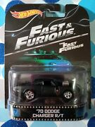 Hot Wheels Retro Fast And The Furious 70 Dodge Charger R/t New