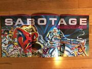 """Spiderman Cable X-force Sabotage Promo Poster1991 Todd Mcfarlane Nm- 11"""" X 24"""""""