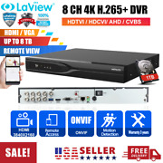 Hd 4k 8 Channel Hdmi H.265+ Dvr Recorder With 1tb Hdd For Cctv Security Camera