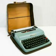 Vintage Typewriter With Trunk Pan Case Old × Olivetti Working Antique