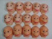 Vintage Monkey Celluloid Plastic Doll Faces Craft Animal Doll Making Lot