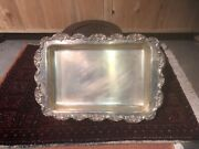 Vintage Silver Plated Tray Platter Poole And Silver Company Lpca