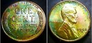 1948 S Lincoln Wheat Penny Cent, Unc Beautiful Toning