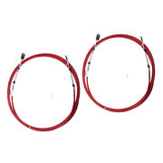 2x Red Throttle Shift Cable Remote Control 21 Ft/6.4 Meter Replacement For