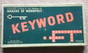 Keyword Board Game True Vintage 1953 By Parker Brothers Letters Word Game