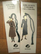 Lot Of 2 Girl Scout Ornament Bookmarks 1912-27 And 1948-56 Leader Scout Gifts New
