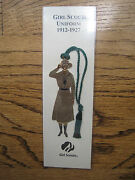 Girl Scout Bookmark Ornament 1912-27 Uniform Scout Leader Troop Multi Gifts New