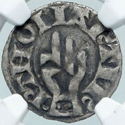 1200ad France Archbishopric Besancon Old Silver Denier Medieval Ngc Coin I87711