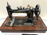 Antique New Home Sewing Machines W/original Case And Foot Control Pedal