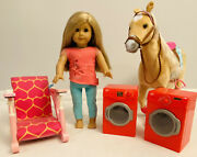 American Girl Doll Isabelle And Accessories My Life As Horse High Chair Wash Dry
