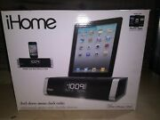 Brand New. Ihome Id45 Dual Fm Clock Radio Ipod/iphone Aux-in Speaker System
