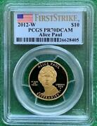 2012 America First Spawns Gold Coin Alice Paul Pcgs Pr70 Dcam