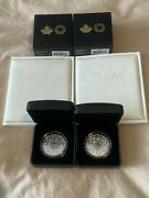 Two Pure Silver Coins-dancing Diamond Sparkle Of The Heart-mintage 750 20219